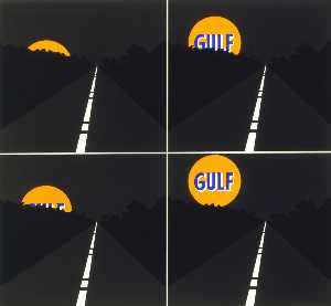 Allan D'arcangelo - June Moon 1963, from the portfolio 7 Serigraphien