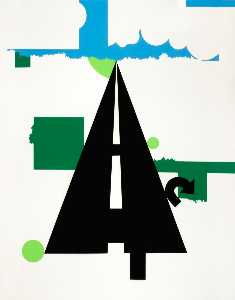 Allan D'arcangelo - Landscape II, from the portfolio 11 Pop Artists, Volume II