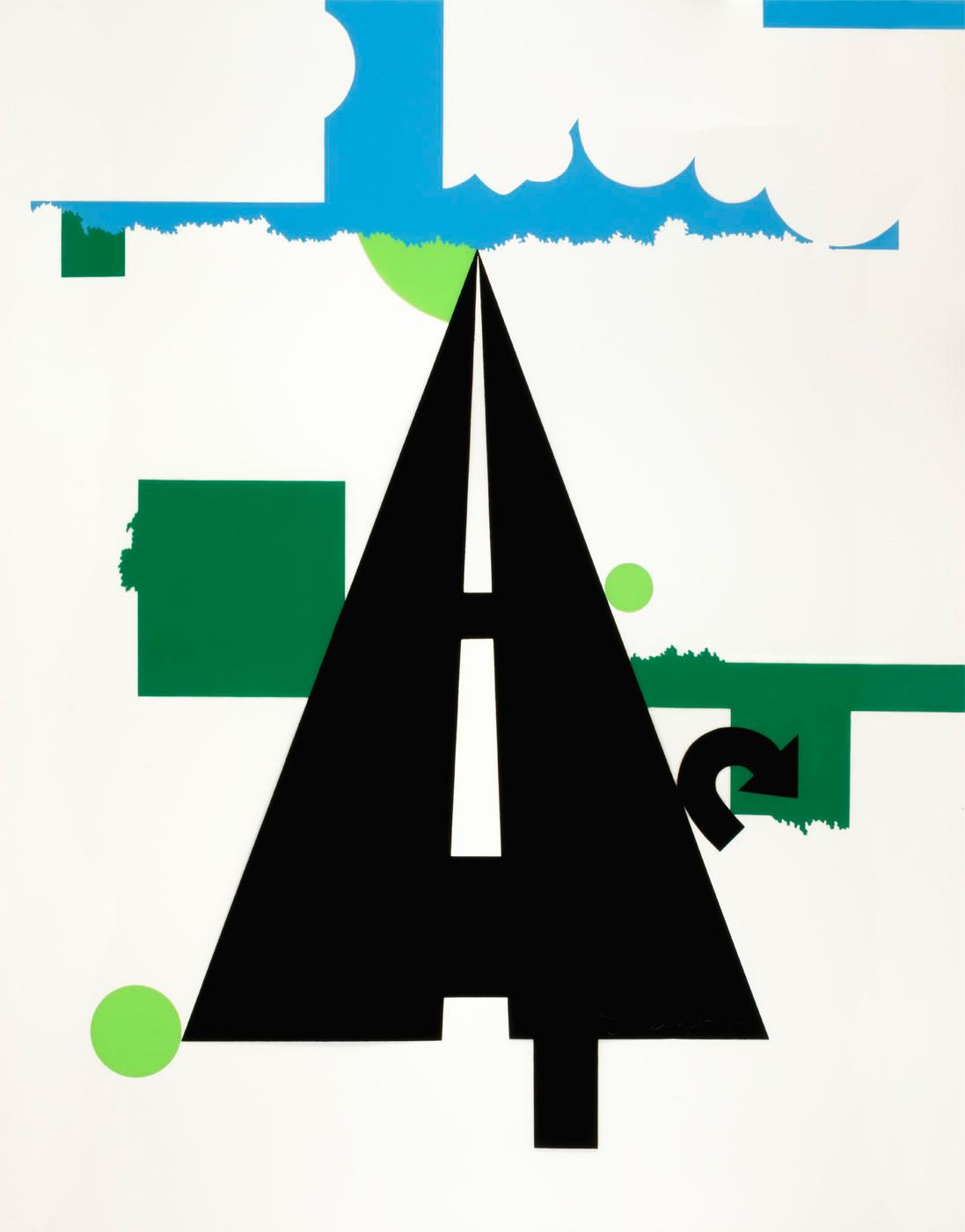 famous painting Landscape II, from the portfolio 11 Pop Artists, Volume II of Allan D'arcangelo