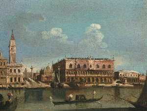 Francesco Tironi - Venice, a view of the Piazzetta from the Bacino di San Marco Venice, a view of Saint Mark's Square