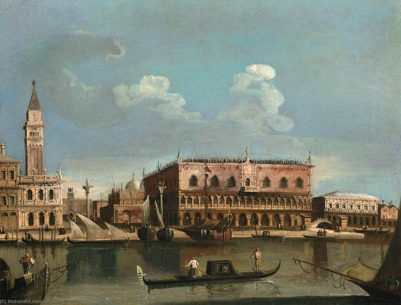 famous painting View of the Piazzetta from the Bacino di San Marco, Venice of Francesco Tironi