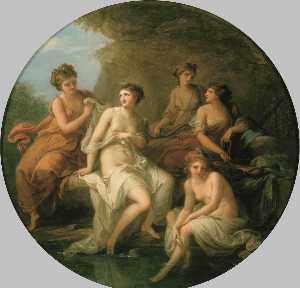 Angelica Kauffman (Maria Anna Angelika) - Diana and Her Nymphs Bathing