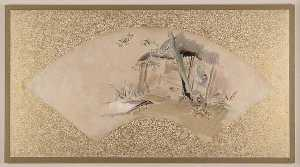 Shibata Zeshin - House with Woman and Baby