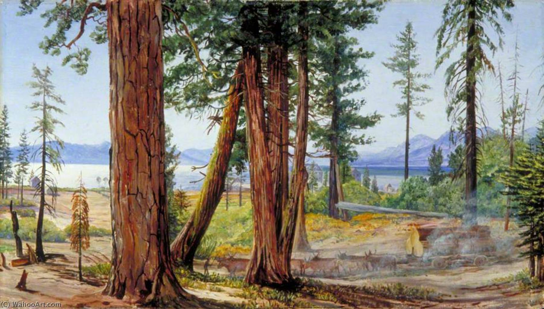 famous painting Lake Tahoe, California of Marianne North