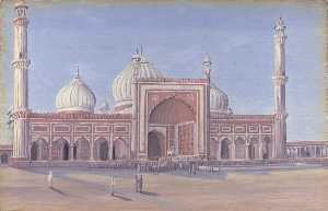 Marianne North - 'The Great Mosque of Delhi, India. Novr. 1878'