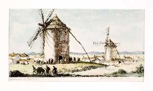 Herman Armour Webster - Spanish Windmills
