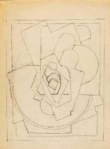Blanche Lazzell - Untitled (Abstract Sketch 3)