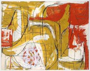 Fritz Bultman - Red, Ochre and White