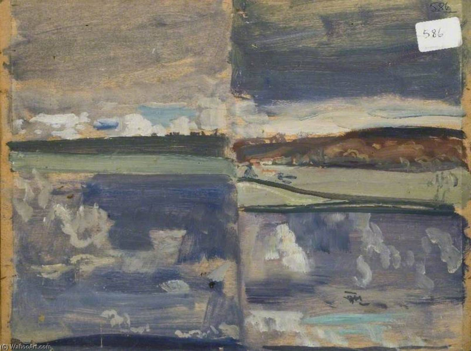 famous painting Cloud Studies (verso) of Alfred James Munnings