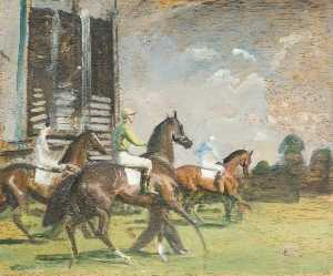 Alfred James Munnings - Riding to the Start
