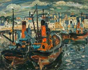 William George Gillies - Fishing Boats, Anstruther Harbour