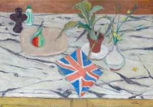William George Gillies - Still Life with Union Jack