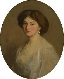 George Fiddes Watt - Frances Stewart (d.1949), Wife of Archibald Kennedy, 4th Marquess of Ailsa