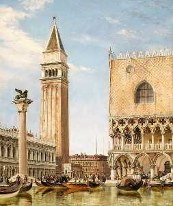 Edward William Cooke - The Piazzetta, Venice