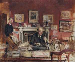 Walter Westley Russell - Sir W. R. Lamb and John Coy (In the Secretary's Office)