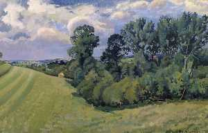 Gilbert Spencer - Blackmore Vale from Compton Abbas