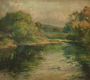 William Hoggatt - From Green to Gold, the Lune above Caton