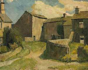 Raymond James Coxon - Farm in a Yorkshire Village