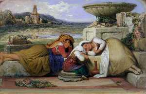 Edward Villiers Rippingille - Mendicants of the Roman Campagna
