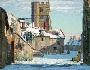 Stanley Royle - Winter, Corfe Castle Village