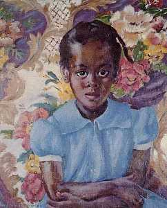 Laura Wheeler Waring - Little Brown Girl, (painting)