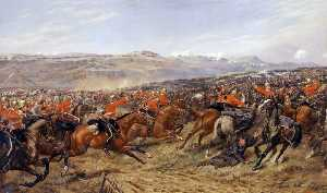 Godfrey Douglas Giles - The Charge of the Heavy Brigade at the Battle of Balaclava, 25 October 1854