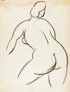 Carl Newman - Female Nude, Back View
