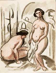 Carl Newman - Two Nude Figures