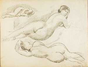 Carl Newman - Group of Three Reclining Female Nudes