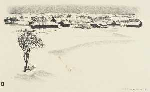 Louis Lozowick - Russian Village