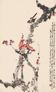 Zhao Shao'ang - KINGFISHER ON PLUM BLOSSOMS