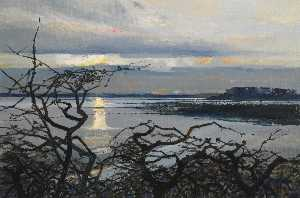 Colin Middleton - february evening grey abbey