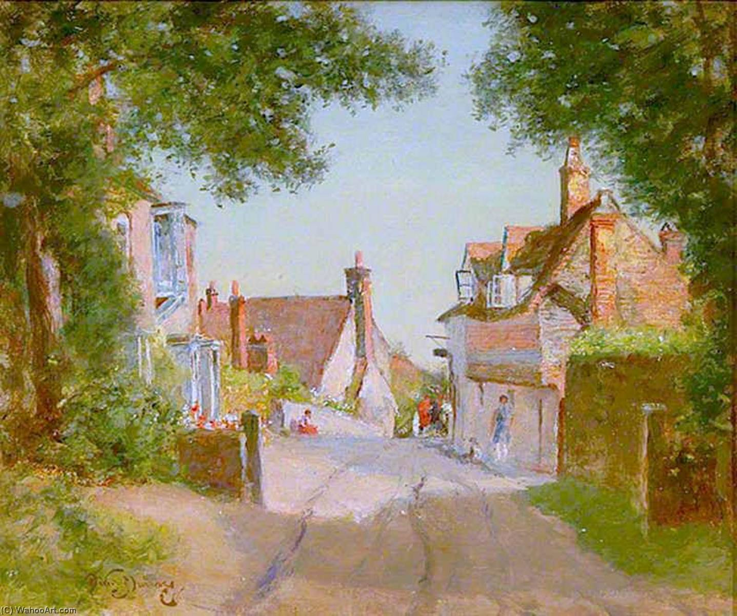 famous painting Fittleworth, West Sussex of David Scott Murray