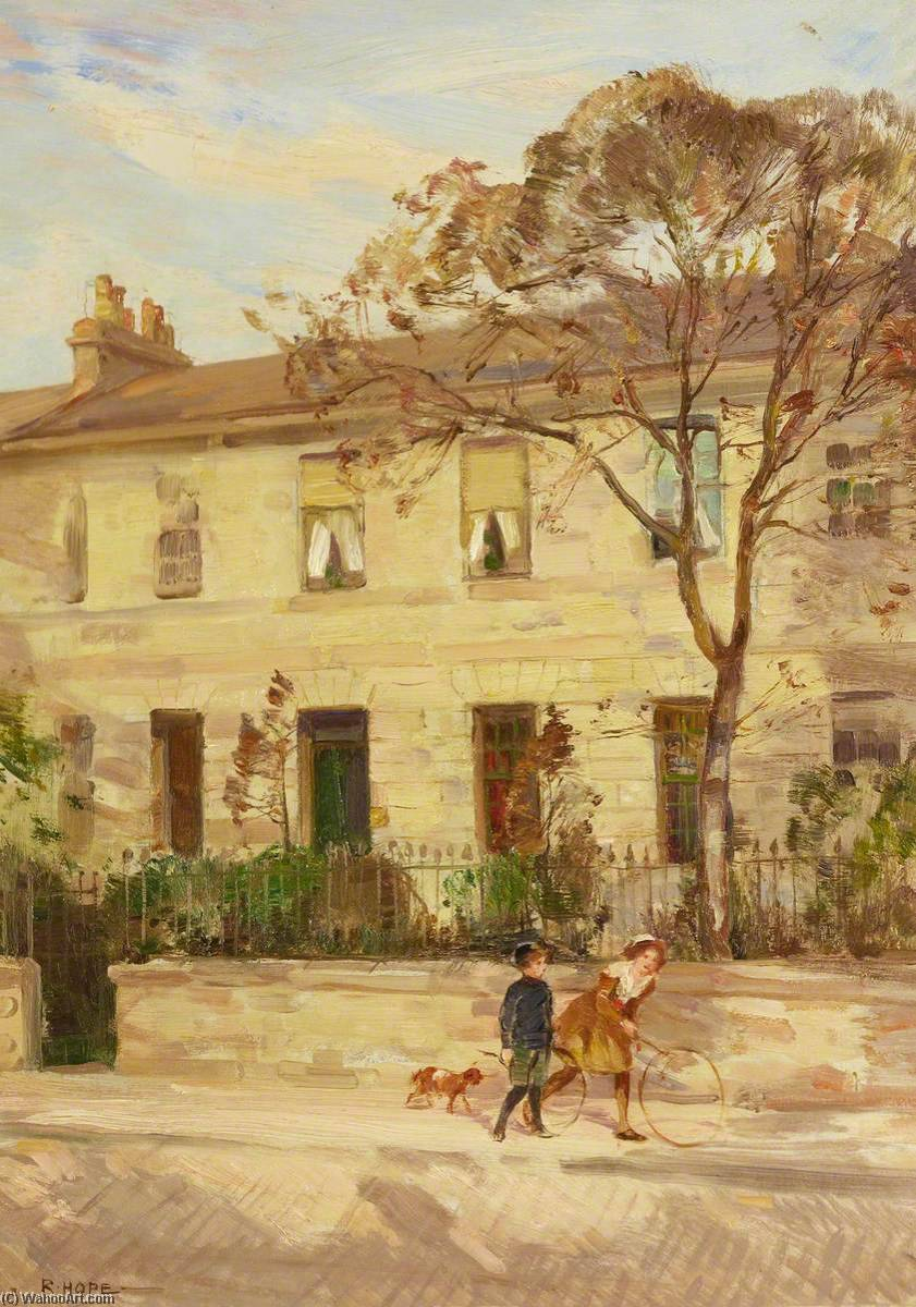 famous painting No.8 Howard Place, Edinburgh, 1914 of Robert Hope