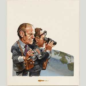 Jack Davis - Henry Kissinger and Gerald Ford