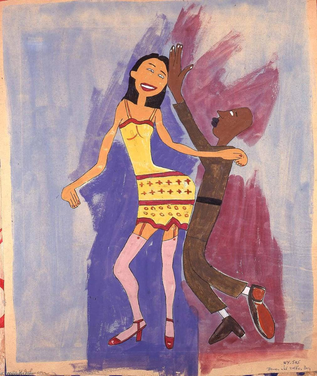 | Dancer with Soldier Boy by William Henry Johnson | BuyPopArt.com