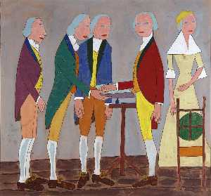 William Henry Johnson - Swearing in George Washington