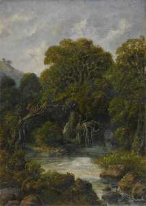 William Robert Houghton - Mountain Stream in the Western Ghats