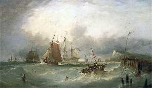 William Henry Williamson - Shipping off Dover, Kent