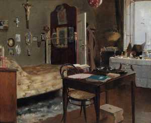 Albert Letchford - Interior of Sir Richard Burton's Bedroom