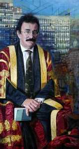 Tom Wood - Lord Robert Winston (b.1940), Chancellor of Sheffield Hallam University from 2001 (triptych, centre panel)