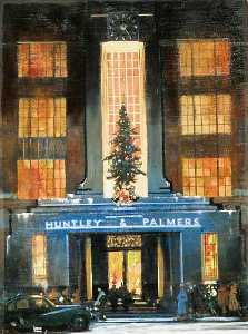 Leslie Carr - Entrance of Huntley Palmers' Office Building