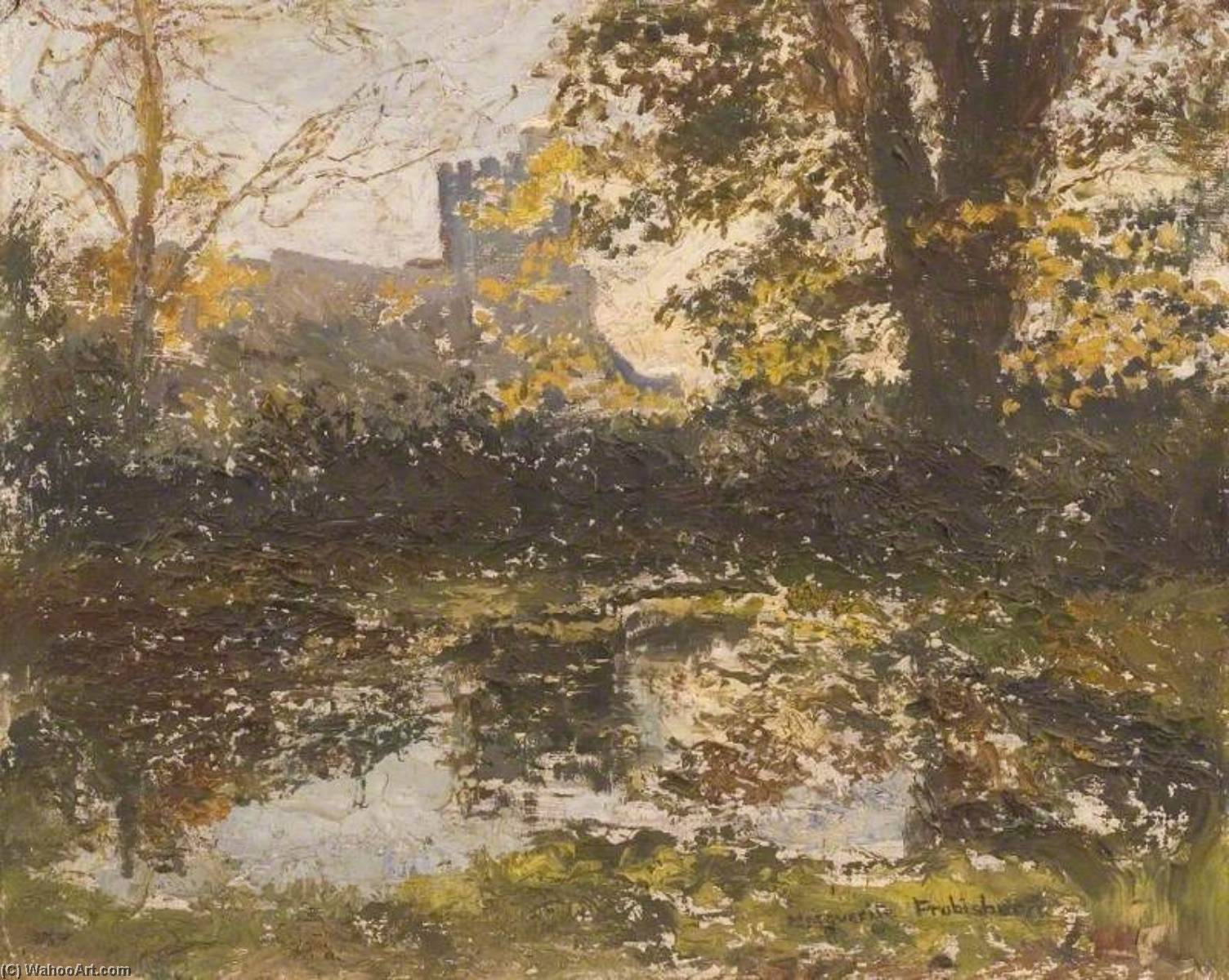 famous painting Autumn View of St James' Church, Bushey of Lucy Marguerite Frobisher