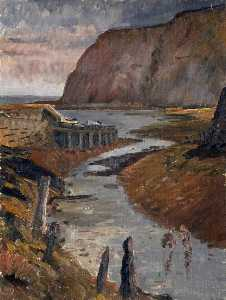 Harry White - Seashore at Whitby, North Yorkshire
