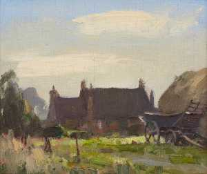 Edward Brian Seago - Corner of the Stackyard