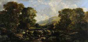 William Muir - Landscape (Guddling for Trout)