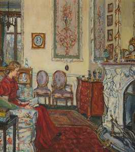 Marie Louise Roosevelt Pierrepont - The White Drawing Room Tapestry Room, Thoresby Hall