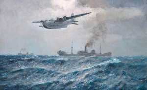 Arthur James Wetherall Burgess - A Sunderland Flying Boat on Patrol
