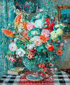 Emily Beatrice Bland - Flowers in a Vase