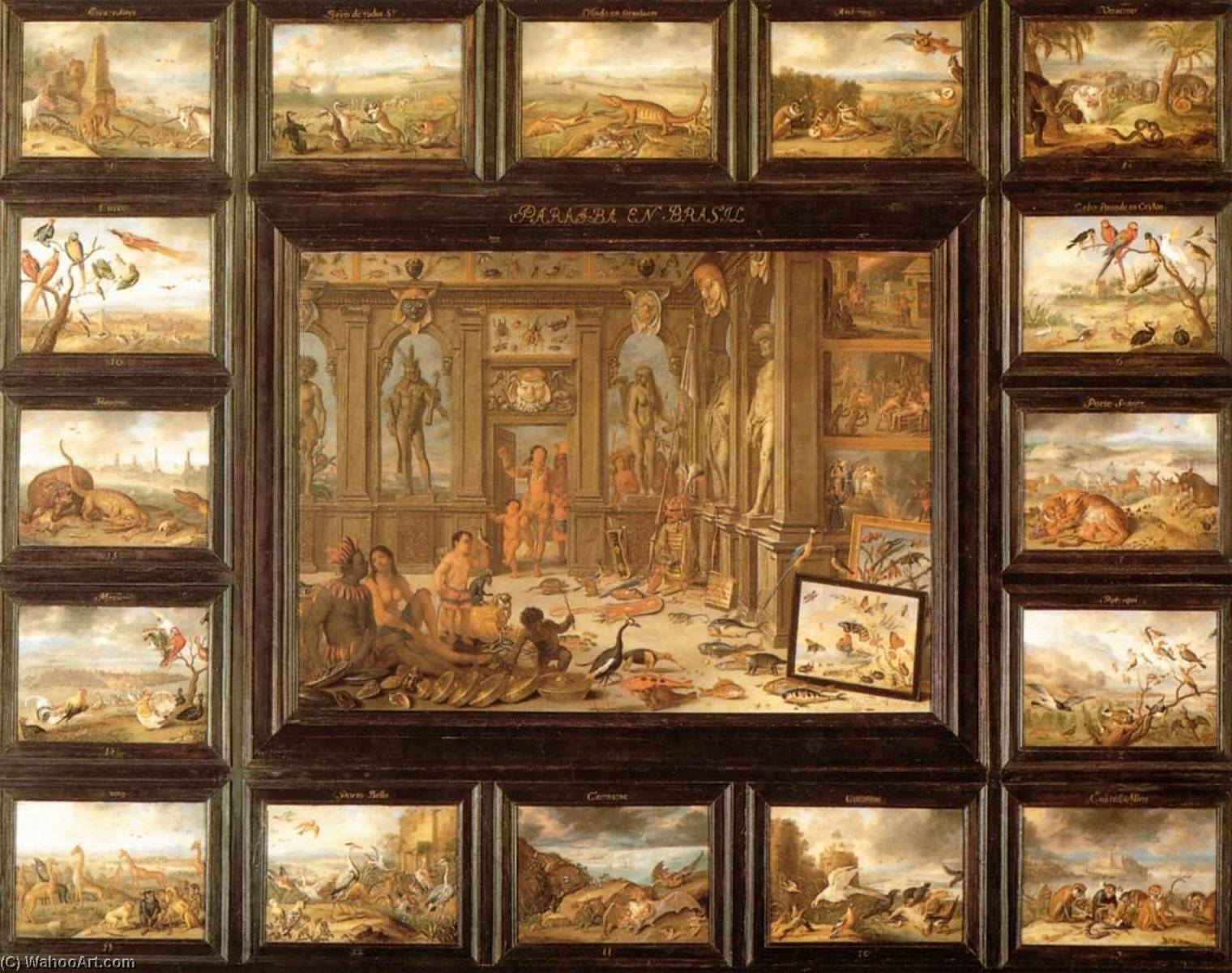 Order Museum Quality Copies Pop Art | The Continent of America by Jan Van Kessel The Elder | BuyPopArt.com